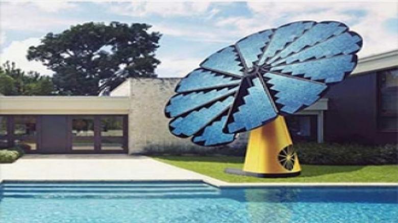 پنل خورشیدی به شکل گل آفتاب گردان